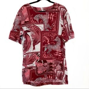 Vintage Salvatore Ferragamo Giraffe Print T-Shirt